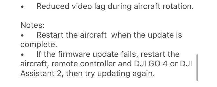 dji spark remote controller firmware update version 01.00.0400